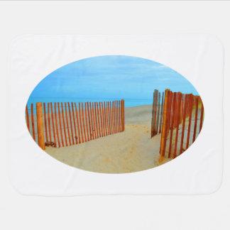 playa de la Florida con la cerca colorida Manta De Bebé