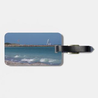 playa de la Florida de las ondas de barcos del emb Etiqueta De Maleta