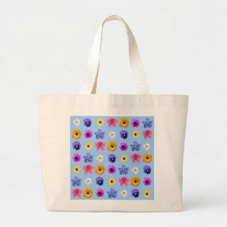 Playa de la impresión floral o tote de las compras bolsas de mano