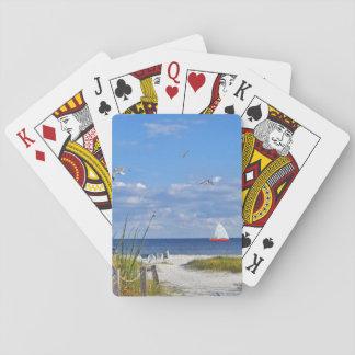 Playa de la isla de Sanibel Cartas De Póquer