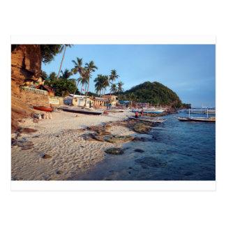 Playa de la isla del Apo Tarjetas Postales