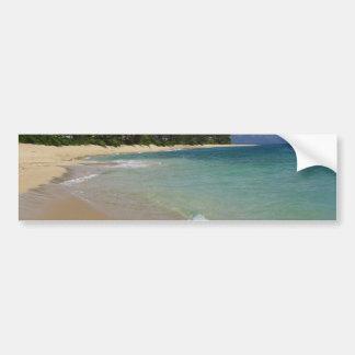 Playa de la isla pegatina para auto