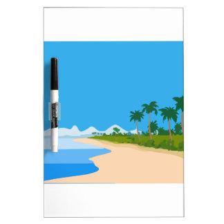 Playa de la isla tablero blanco