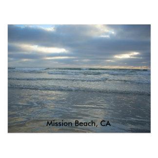 Playa de la misión, CA Tarjeta Postal