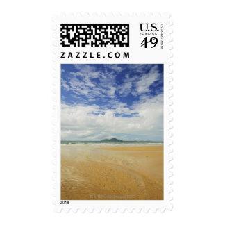 Playa de la misión e isla de la clavada sello