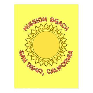 Playa de la misión, San Diego, California Tarjetas Postales