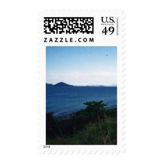 Playa de la misión sello postal