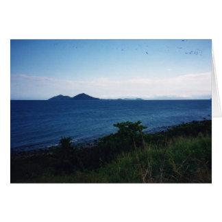 Playa de la misión tarjeta de felicitación