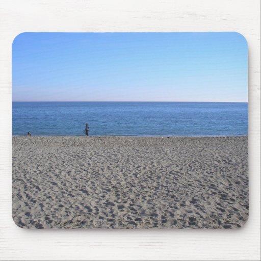 Playa de la orilla de mar alfombrilla de ratón
