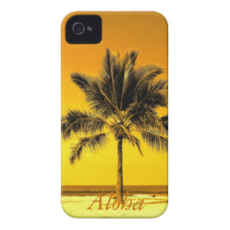 Playa de la palmera de la isla Case-Mate iPhone 4 protector