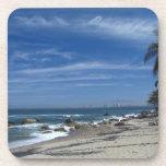 Playa de la palmera posavasos