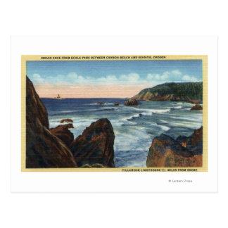 Playa de la playa y del cañón, Oregon Postales
