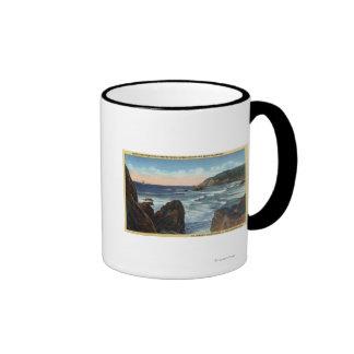 Playa de la playa y del cañón, Oregon Tazas De Café