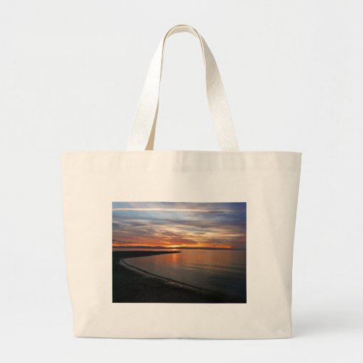 Playa de la puesta del sol bolsa