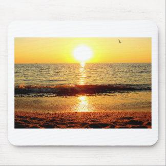 Playa de la puesta del sol, Cape May NJ Alfombrillas De Ratón
