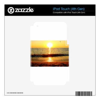 Playa de la puesta del sol, Cape May NJ iPod Touch 4G Skin