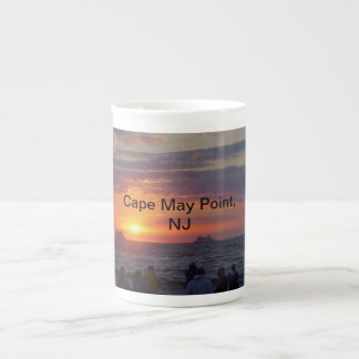 Playa de la puesta del sol, Cape May, taza de la p Taza De China