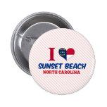 Playa de la puesta del sol, Carolina del Norte Pin