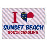 Playa de la puesta del sol, Carolina del Norte Tarjeta