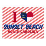 Playa de la puesta del sol, Carolina del Norte Tarjeta Postal
