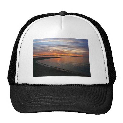 Playa de la puesta del sol gorra