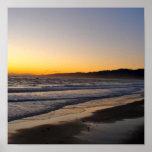 Playa de la puesta del sol impresiones