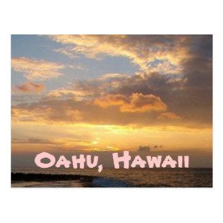Playa de la puesta del sol, Oahu Postal