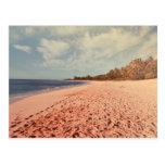 Playa de la puesta del sol (personalizable) tarjetas postales