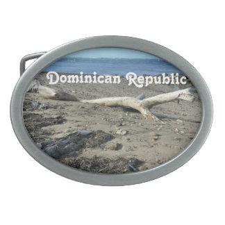 Playa de la República Dominicana Hebilla De Cinturón Oval