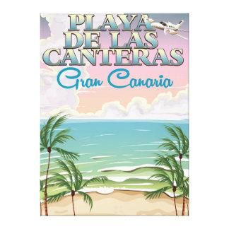 Playa de Las Canteras Gran Canteras Canvas Print
