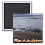 Playa de Las Canteras Imán Cuadrado