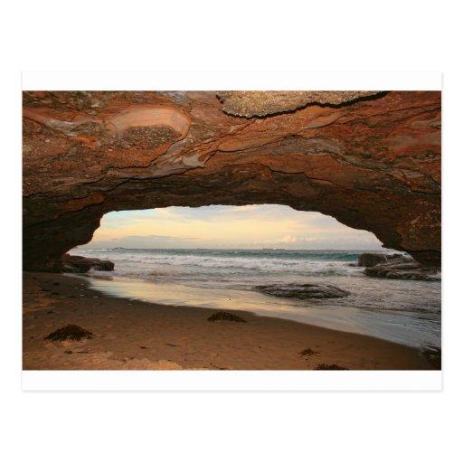 Playa de las cuevas postal