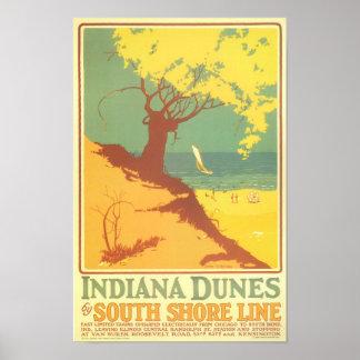 Playa de las dunas de Indiana Poster