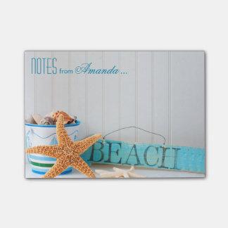 Playa de las estrellas de mar personalizada notas post-it®