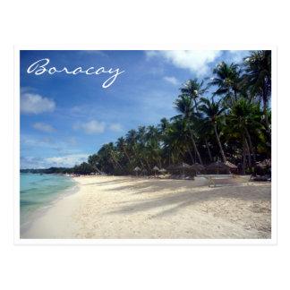 playa de las palmas de Boracay Tarjetas Postales