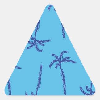 Playa de las palmas calcomanías de triangulos
