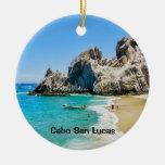Playa de los amantes, Cabo San Lucas Adorno Navideño Redondo De Cerámica