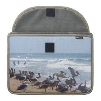 Playa de los animales de la fauna de los pájaros funda macbook pro