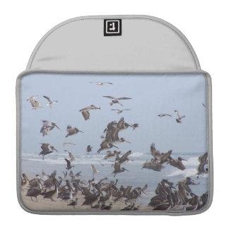 Playa de los animales de la fauna de los pájaros funda para macbook pro