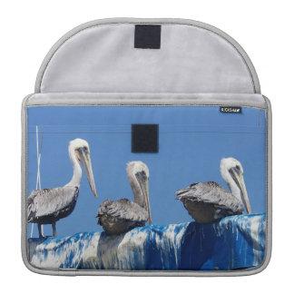 Playa de los animales de la fauna de los pájaros fundas para macbooks