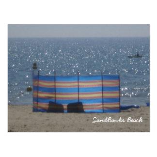 Playa de los bancos de arena tarjetas postales