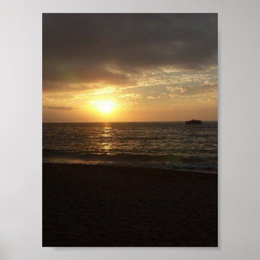 Playa de los Muertos, puesta del sol de Puerto Val Impresiones