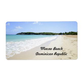 Playa de Macao en la República Dominicana Etiquetas De Envío