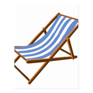 playa de madera rayada chair.png del cornflower tarjetas postales