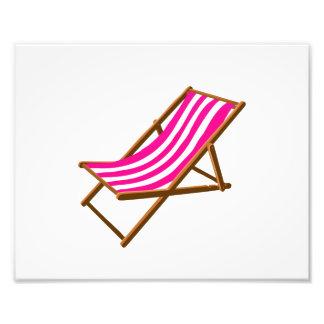 playa de madera rayada chair png del fuschia impresión fotográfica