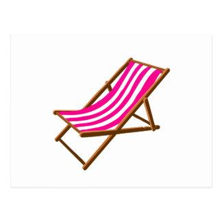 playa de madera rayada chair.png del fuschia tarjetas postales