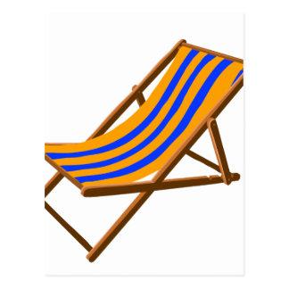 playa de madera rayada chair.png del naranja azul postal
