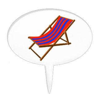 playa de madera rayada chair.png del rojo azul decoración de tarta