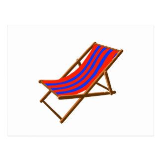 playa de madera rayada chair.png del rojo azul tarjeta postal