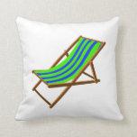 playa de madera rayada chair.png del verde azul almohada